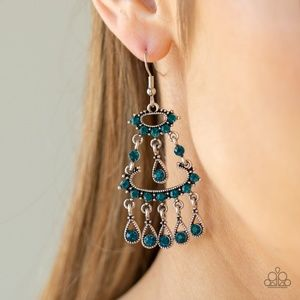 Chandelier Shimmer - Blue Earrings